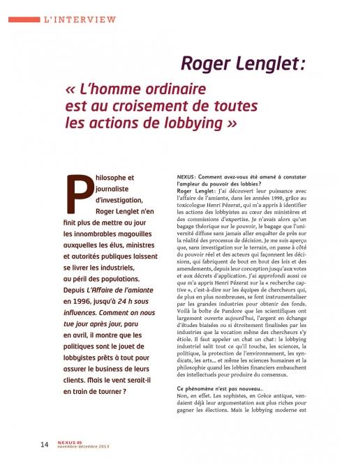 P1 NEX089-Le-pouvoir-des-lobbyistes-Interview-Roger-Lenglet