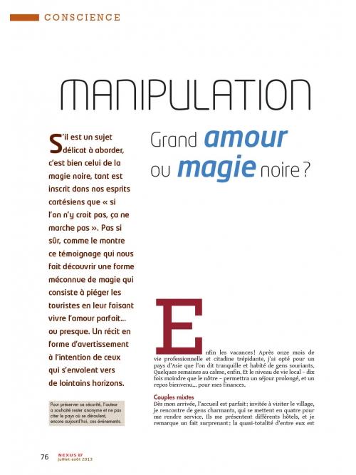 p1 NEX087-Manipulation-Grand-Amour-ou-Magie-noire