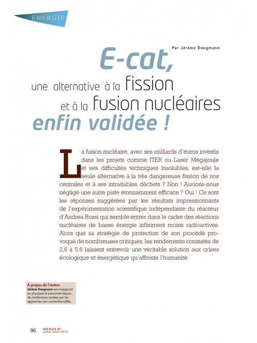 P1 NEX087-E-cat-une-alternative-au-nucleaire-enfin-validee