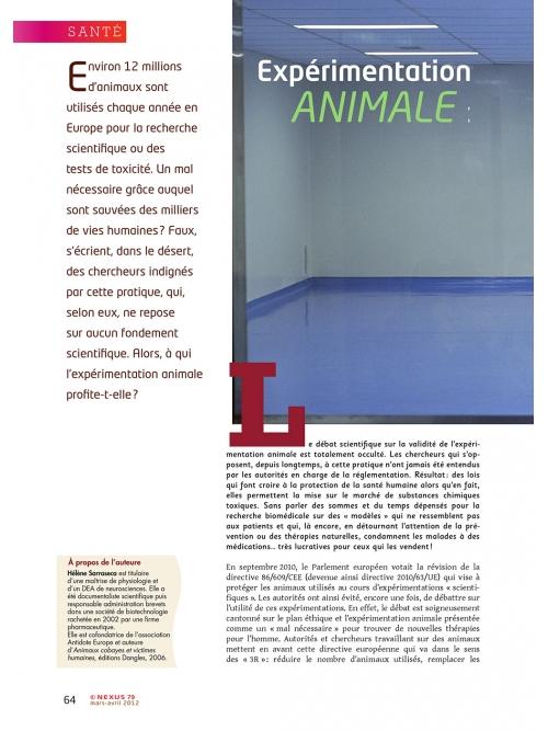 NEX079-Experimentation-animale-cruelle-inefficace-dangereuse