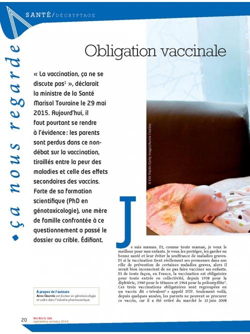 NEX106 Obligation vaccinale enquête d'une maman biologiste