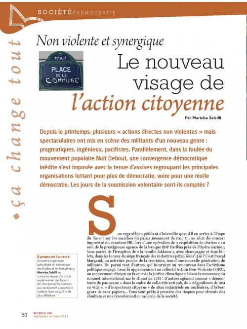 NEX106 Action citoyenne non violente et synergique