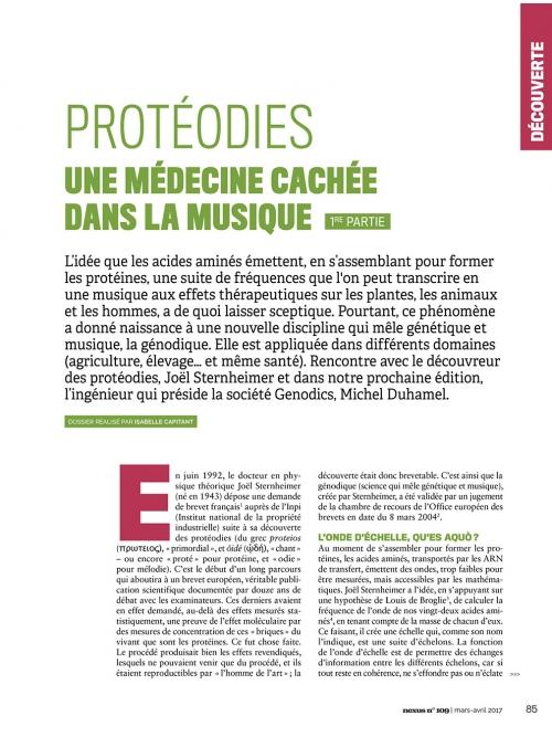 NEX109 Protéodies une médecine cachée dans la musique