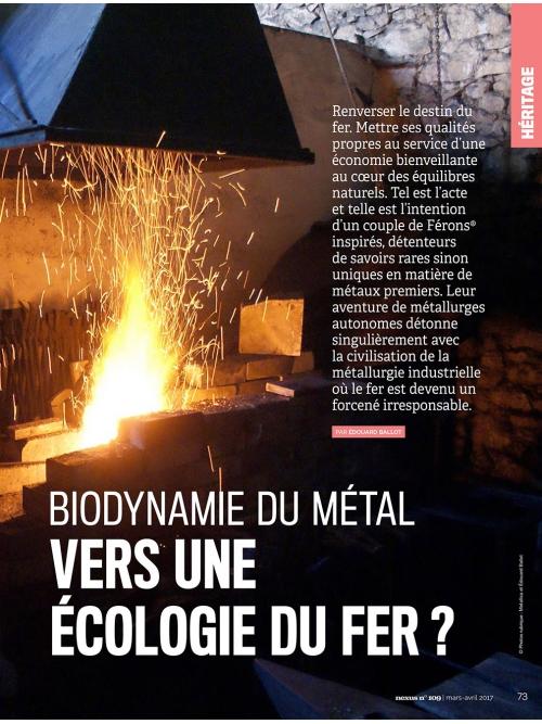 NEX109 Biodynamie du métal – écologie du fer