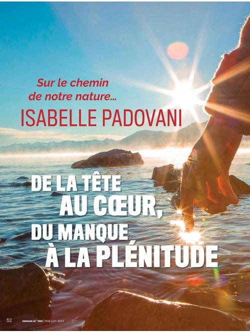 NEX110 Isabelle Padovani, de la tête au cœur
