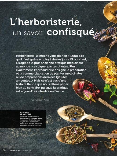 NEX111 L'herboristerie, un savoir confisqué
