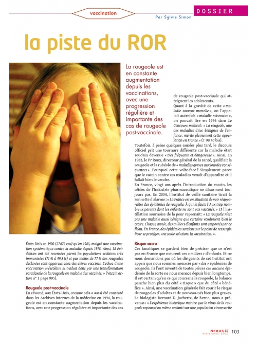 NEX067-Autisme la piste du ROR