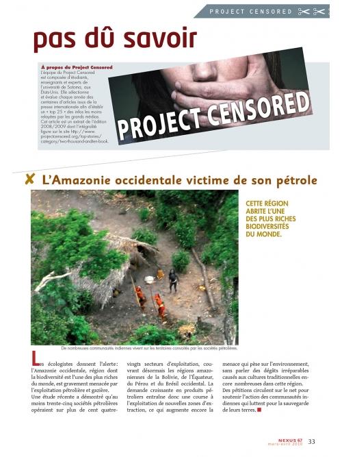 NEX067-Project Censored ce que vous n'auriez pas dû savoir