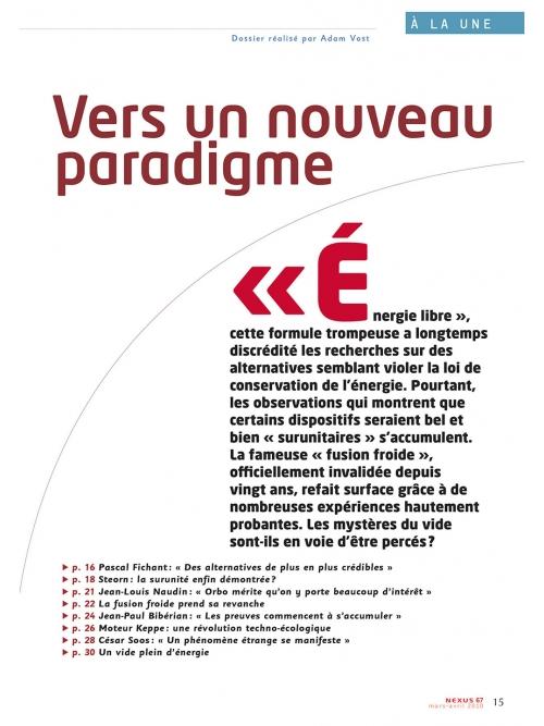 NEX067-Energie libre vers un nouveau paradigme