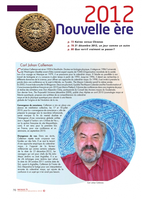 NEX071-2012 nouvelle ère ou faux débat