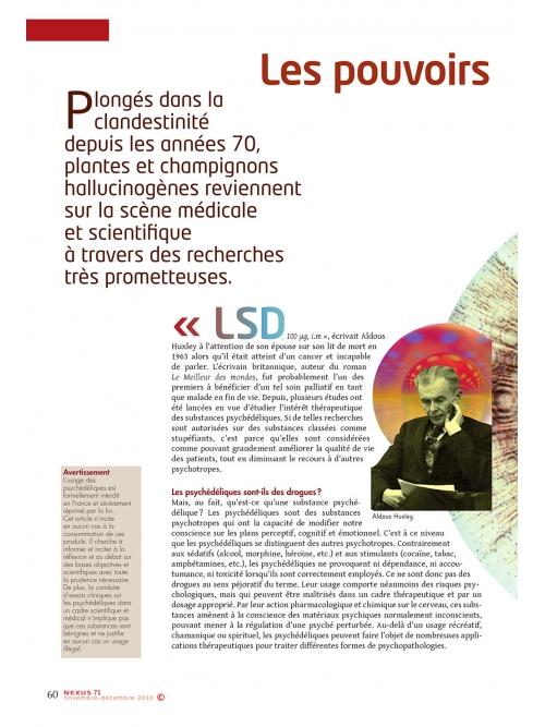 NEX071-Vers une médecine psychédélique