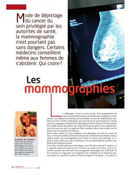 NEX071-Mammographies cancérigènes