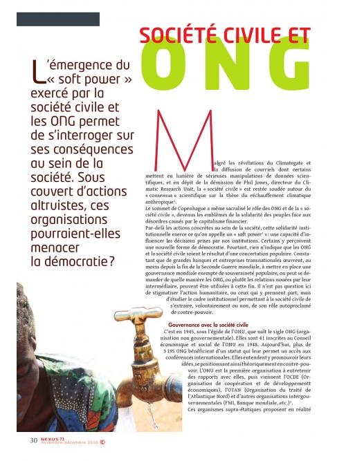 NEX071-ONG Société civile les pions du nouvel ordre mondial