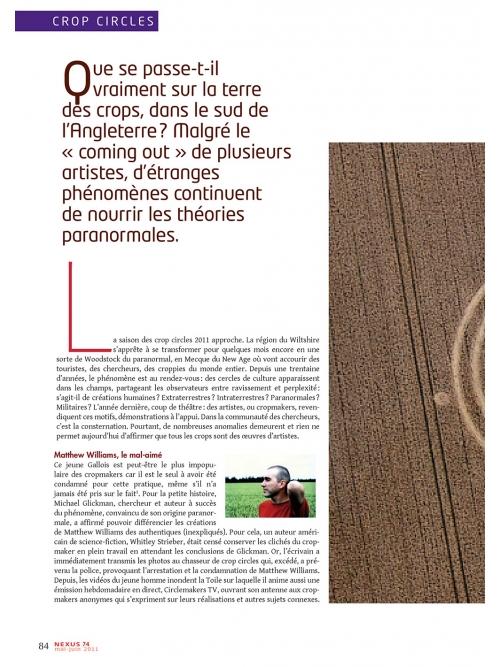NEX074 Crop circles le mythe cultivé
