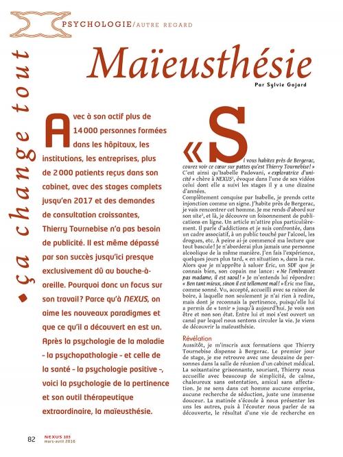 NEX103 Maïeusthésie un nouveau paradigme en psychothérapie