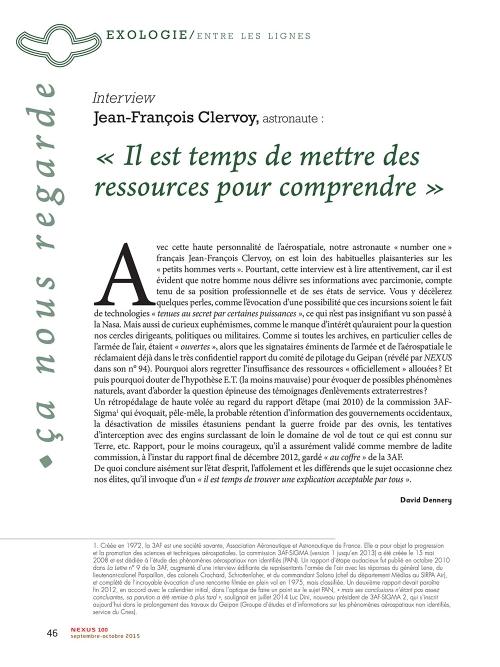 P1 NEX100-Ovni-Interview-de-Jean-François-Clervoy-astronaute