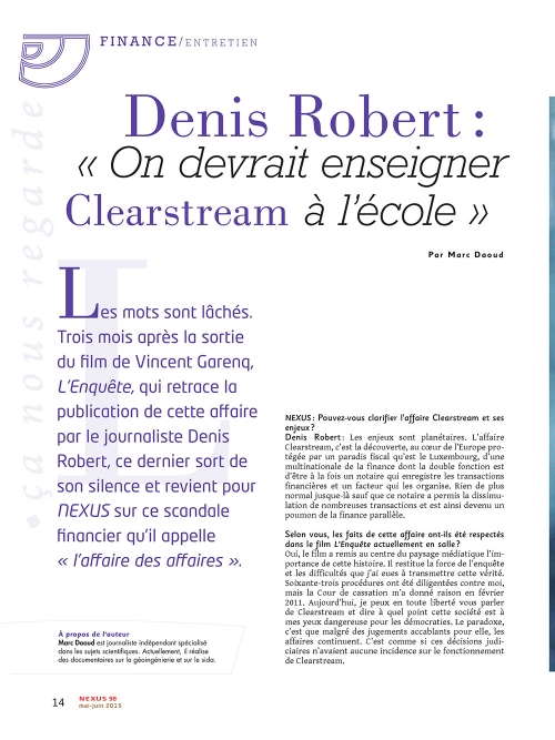 P1 NEX098-Interview-de-Denis-Robert-On-devrait-enseigner-Clearstream-a-l-ecole
