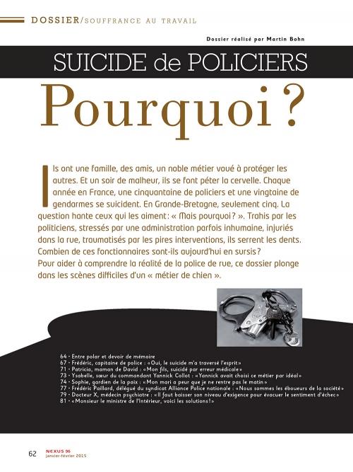 P1 NEX096-Suicide-de-policiers-pourquoi