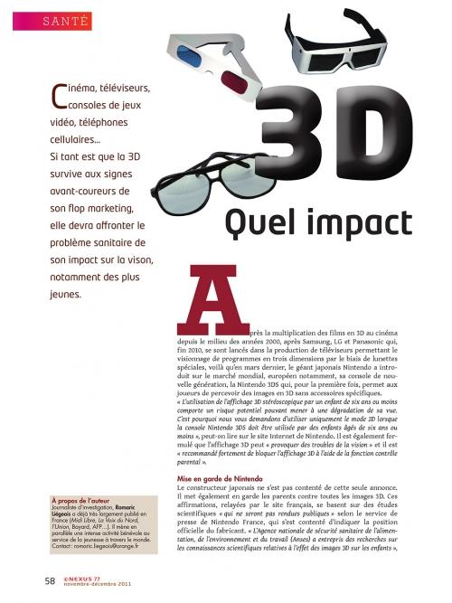 P1 NEX077-3D-quelles-consequences-pour-la-vue