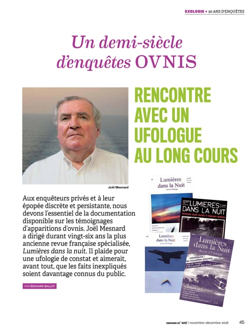 NEX107 Cinquante ans d'enquêtes ovnis - Joël Mesnard 2