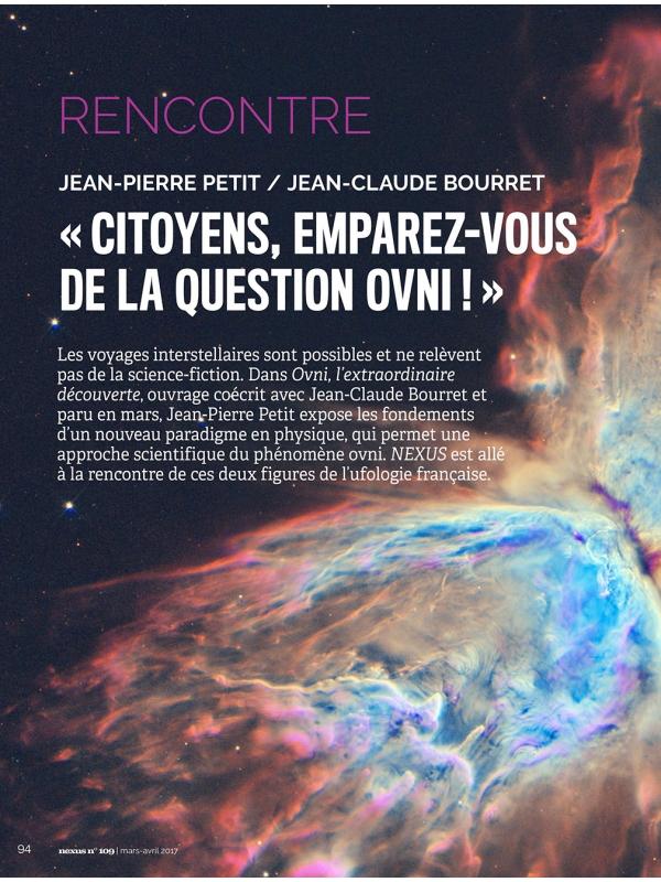 NEX109 Ovnis - JP Petit - JC Bourret
