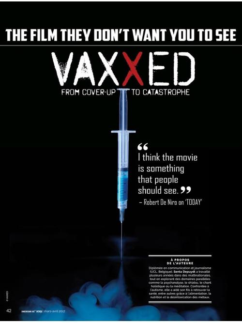 NEX109 Vaxxed autisme vaccination et politique