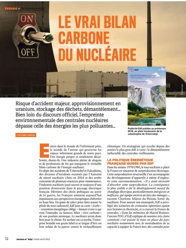 NEX109 Vrai bilan carbone du nucléaire