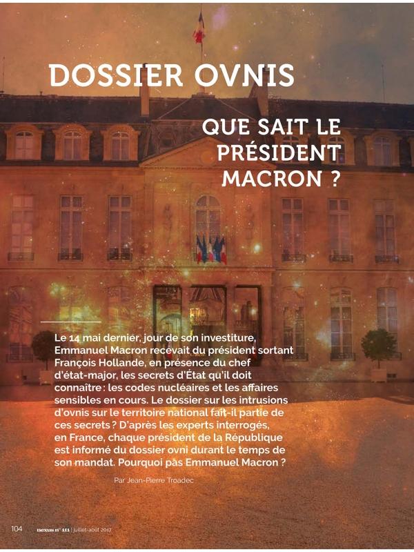 NEX111 Dossier ovni : que sait le président Macron