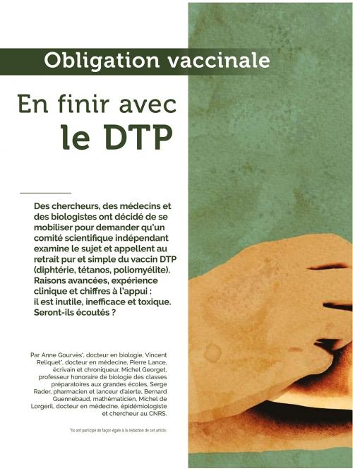 NEX113 Obligation vaccinale en finir avec le DTP