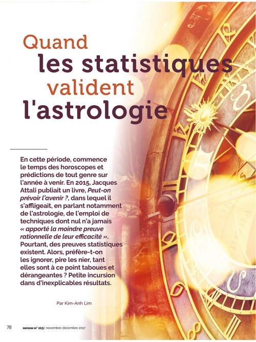 NEX113 Quand les statistiques valident l'astrologie
