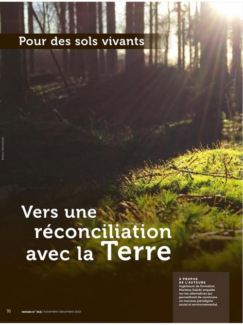 Sols vivants Vers une réconciliation avec la Terre