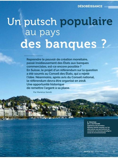 NEX114 UN PUTSCH POPULAIRE AU PAYS DES BANQUES ?