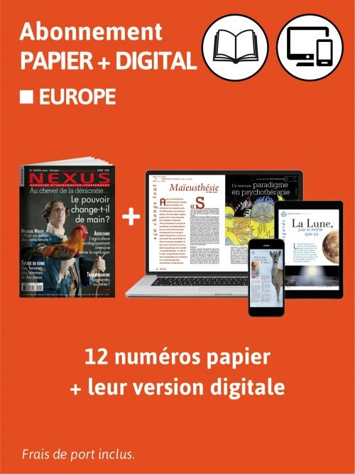 2 ans Abo. Europe Papier et Digital