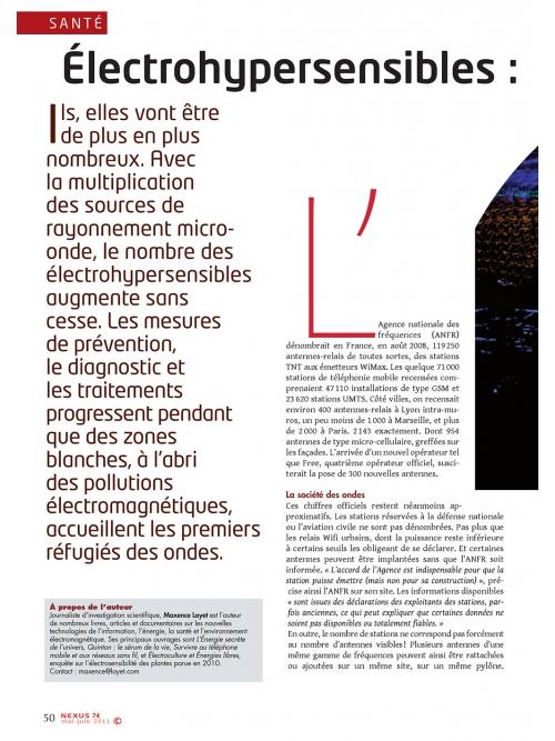 NEX074 Électro-hypersensibles les solutions émergent