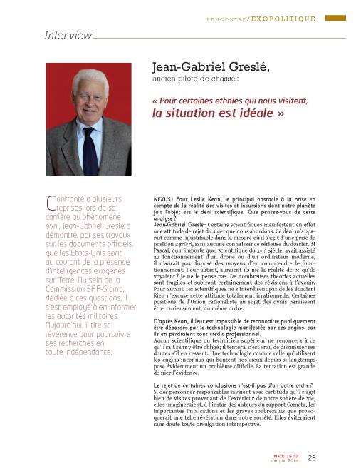 NEX092 itw Jean-Gabriel Greslé des intelligences exogènes sur terre